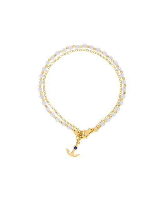 Astley Clarke | Metallic Agate Anchor Biography Bracelet | Lyst