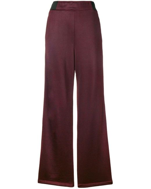 T By Alexander Wang Pink Side Button Stripe Trousers