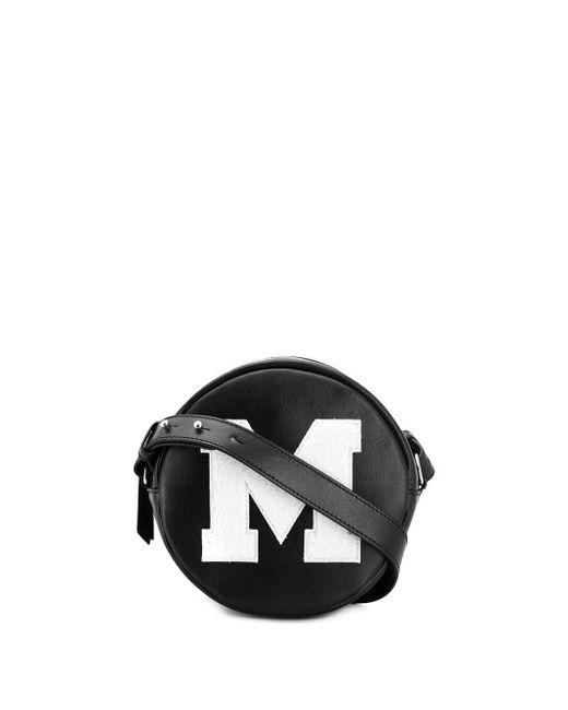 MSGM Black M Logo Crossbody Bag