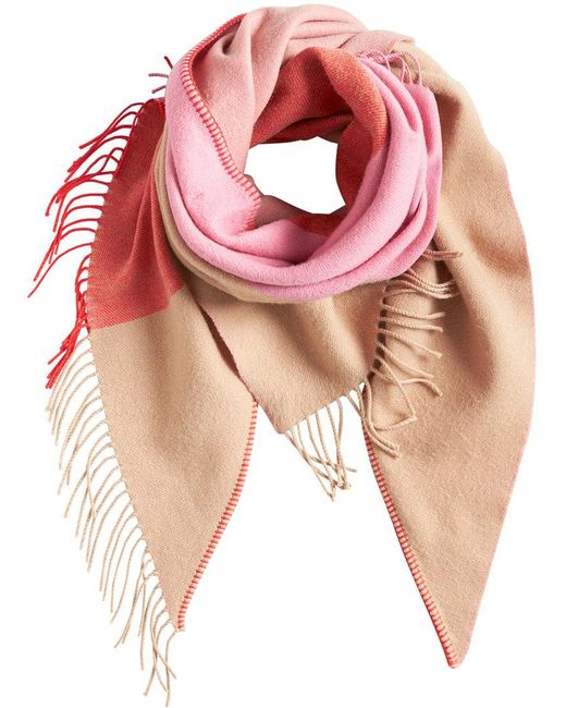 Burberry - Pink Fringed Scarf - Lyst