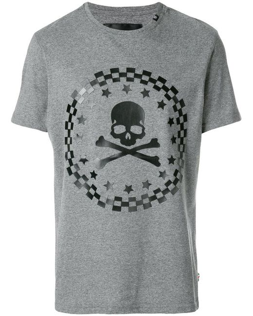 Philipp Plein - Gray The Sky T-shirt for Men - Lyst