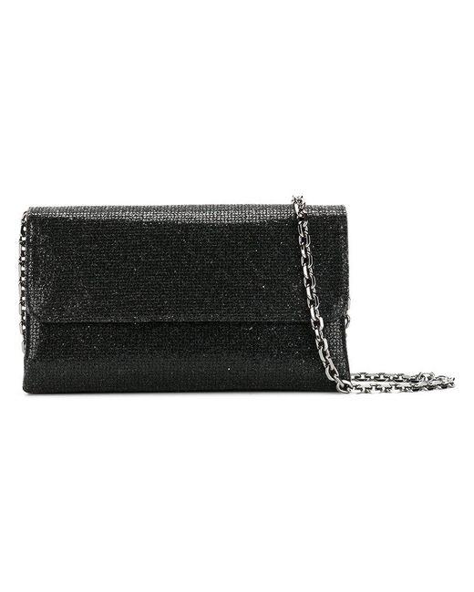 Casadei - Black Foldover Glittered Clutch Bag - Lyst