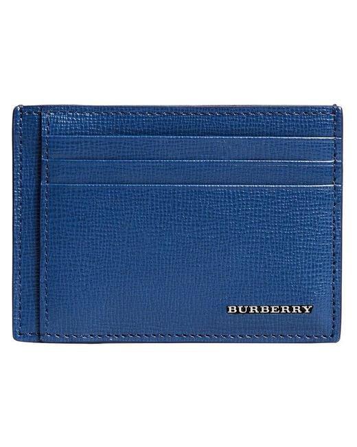 Burberry - Blue London Money-clip Cardholder - Lyst