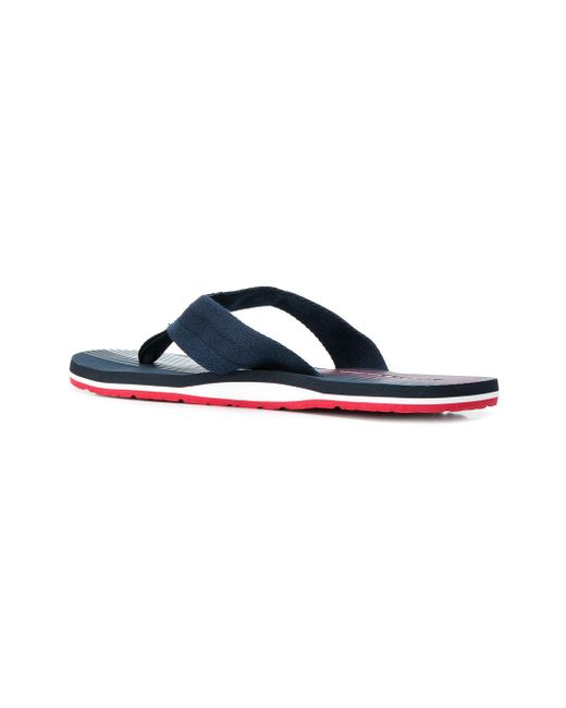 59f4d26e06d1d7 Lyst - Tommy Hilfiger Logo Printed Flip Flops in Blue for Men