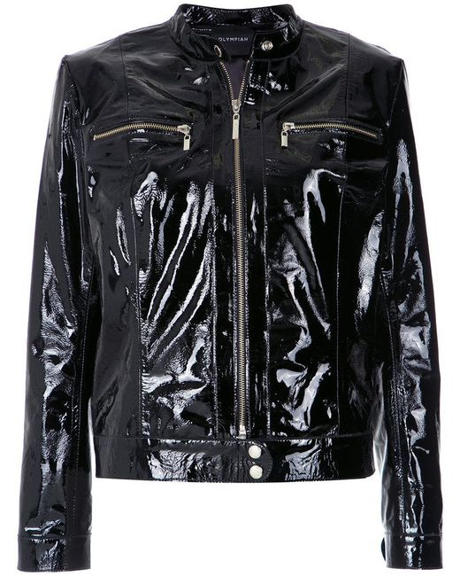 Olympiah - Black Patent Leather Jacket - Lyst