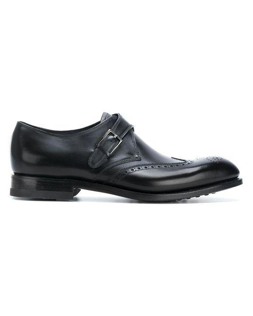 Ferragamo - Black Oxford-Schuhe mit seitlicher Schnalle for Men - Lyst