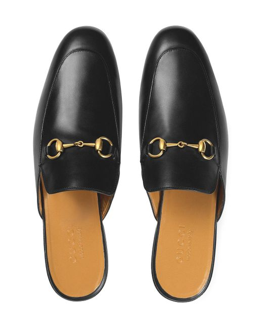 45efeb3bfe2 Gucci Leather Horsebit Slippers in Black for Men - Save 4% - Lyst