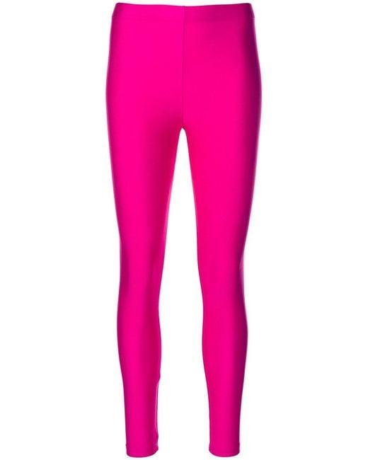 Erika Cavallini Semi Couture | Pink Classic Leggings | Lyst