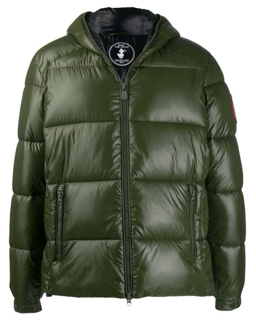 Save The Duck Green Hooded Padded Jacket for men