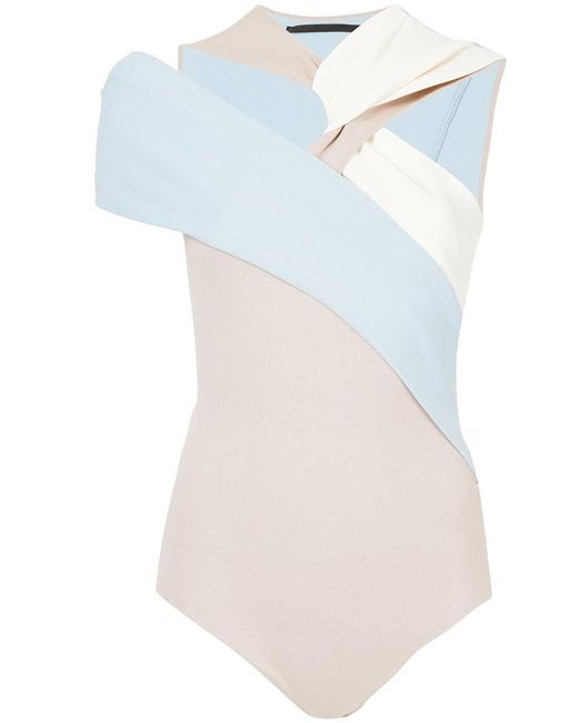Haider Ackermann - Blue Drape Knit Body - Lyst