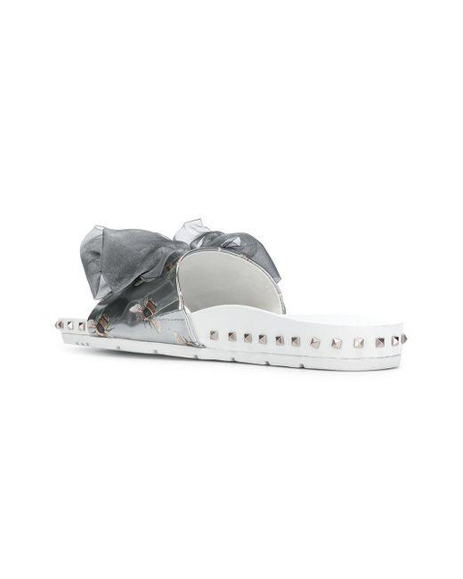 Aclaramiento De Elegir Un Mejor La Salida De Muchos Tipos De Kennel&Schmenger bee detail slide sandals - Grey farfetch Pelle Orden TO1zq9