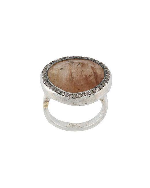 Rosa Maria - Metallic Round Signet Ring - Lyst