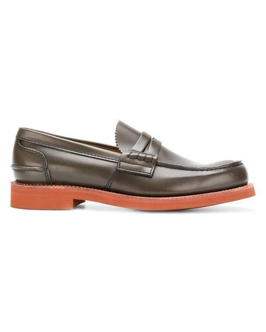 Church's - Brown Contrast Heel Loafers for Men - Lyst