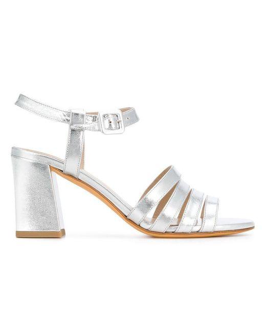 5978dcbe4488 Maryam Nassir Zadeh - Metallic Block Heel Sandals - Lyst ...