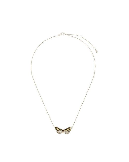 Astley Clarke   Metallic Crimson Speckled Moth Necklace   Lyst