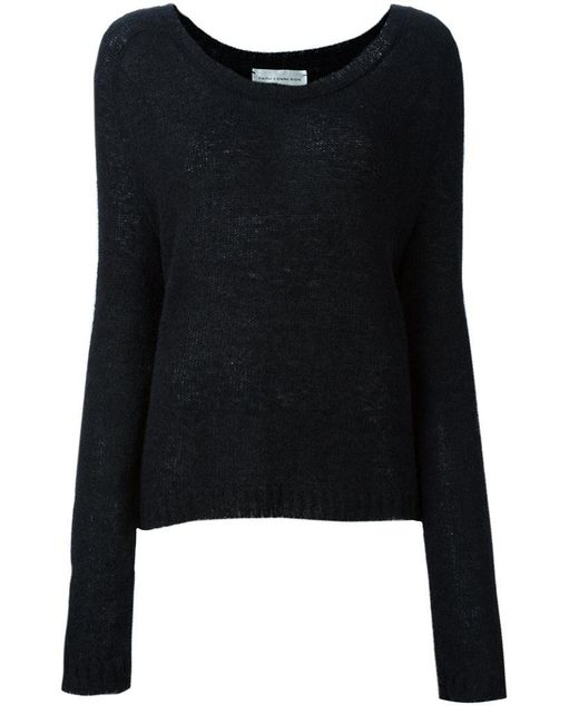 Faith Connexion - Black Ribbed Round Neck Pullover - Lyst