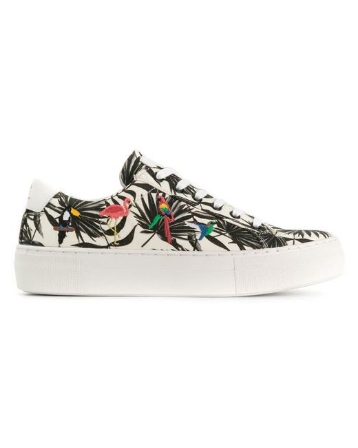 MOA - Multicolor Tropical Flatform Sneakers - Lyst