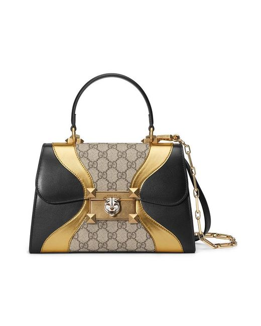 Gucci Osiride Small GG Top Handle Bag in Black - Save ... da5c191dafbbc
