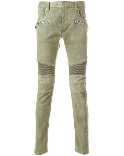 f1983510 Balmain - Green Biker Jeans for Men - Lyst ...