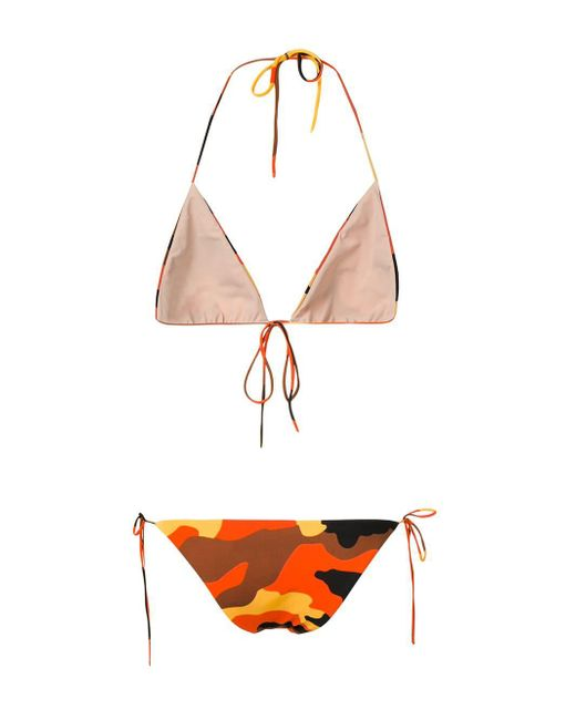 7e39c1f8e9 ... Off-White c o Virgil Abloh - Orange Camouflage Bikini - Lyst ...