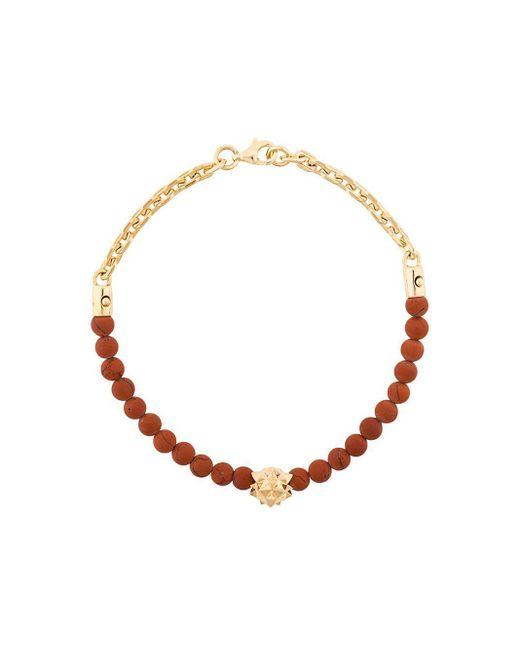 Northskull - Red Jasper Bracelet for Men - Lyst