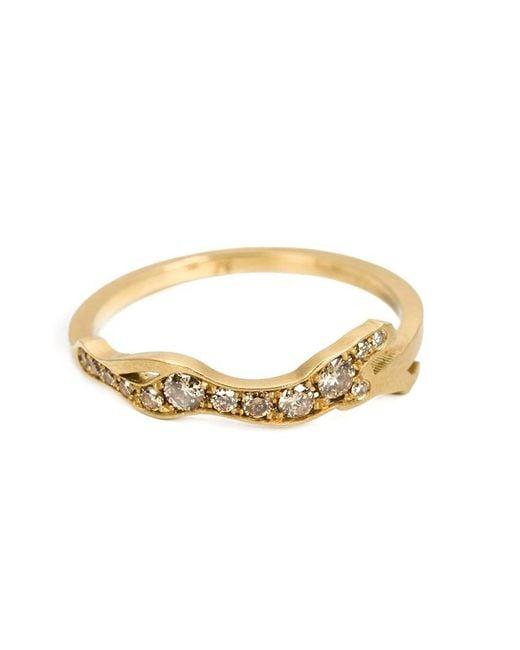 Marc Alary - Metallic Diamond 'cheetah Cycle' Ring - Lyst