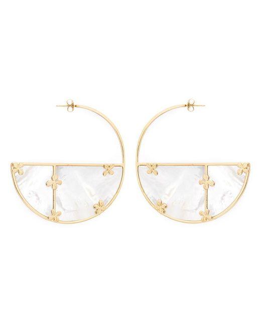 Aurelie Bidermann | White 'bianca' Reversible Hoop Earrings | Lyst