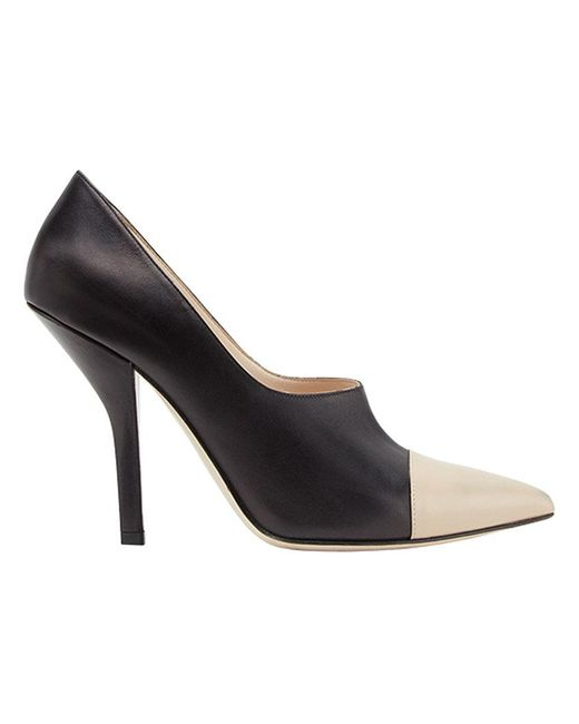 Fendi - Black Curved Heel Pumps - Lyst