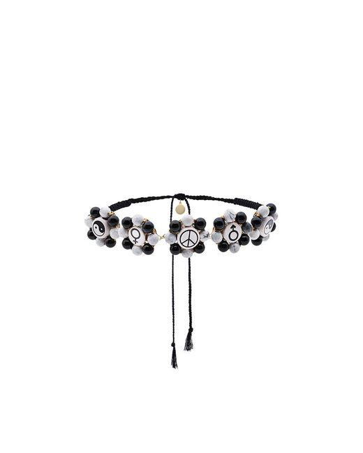 Venessa Arizaga - Black Multi Charm Necklace - Lyst