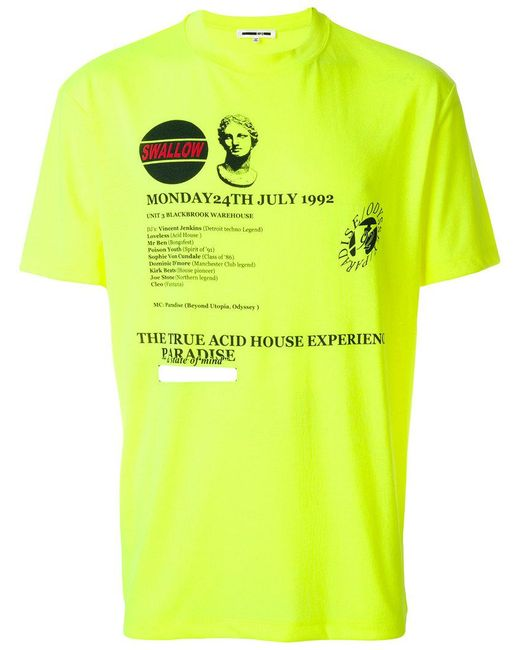 McQ Alexander McQueen - Yellow Graphic Print T-shirt for Men - Lyst
