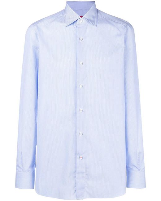 Isaia - Blue Classic Shirt for Men - Lyst