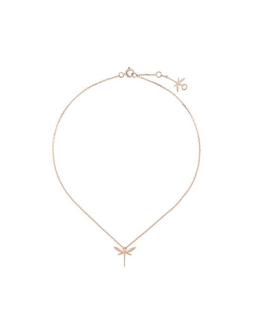 Anapsara | Metallic Mini Dragonfly Necklace | Lyst