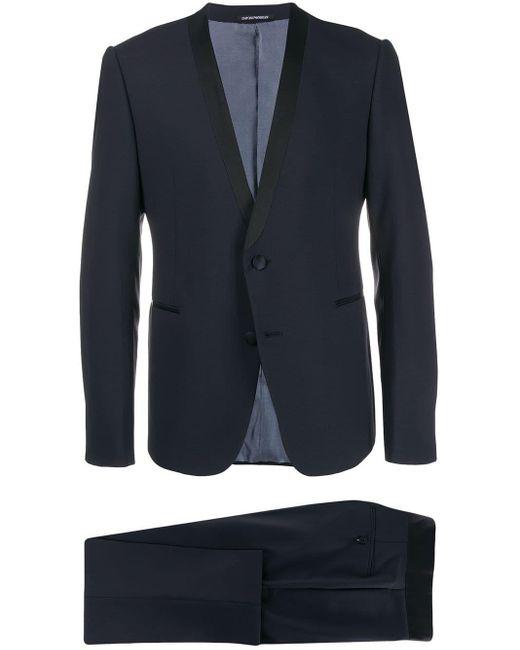Emporio Armani Blue Two-piece Suit for men