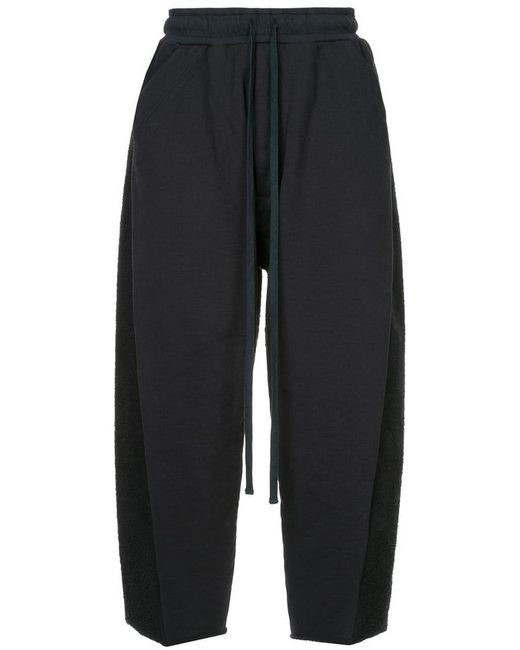 Julius - Blue Cropped Drawstring Trousers for Men - Lyst