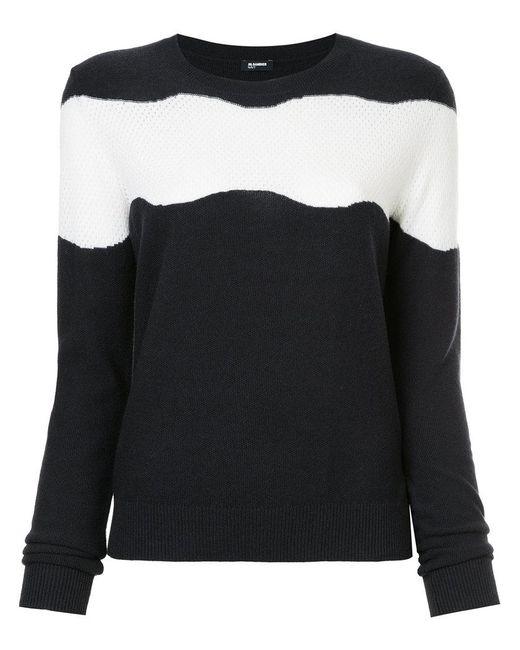 Jil Sander Navy - Blue Striped Sweater - Lyst