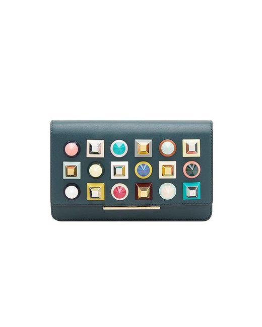 Fendi - Green Rainbow Clutch Bag - Lyst