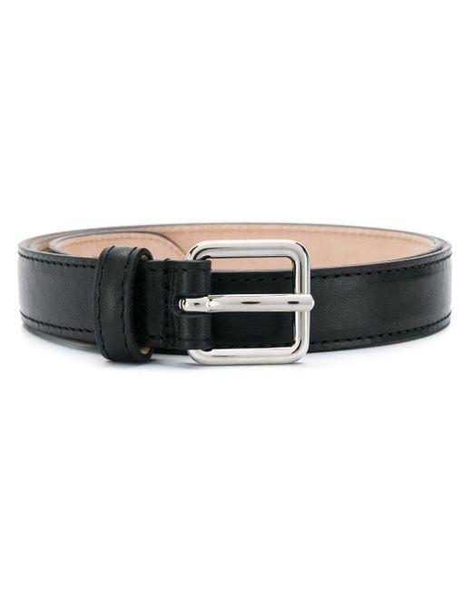Alexander McQueen Black Square Buckle Belt