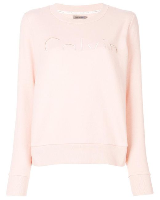Calvin Klein | Pink Classic Knitted Sweater | Lyst
