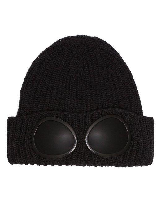 C P Company - Black Wool Knit Cap for Men - Lyst
