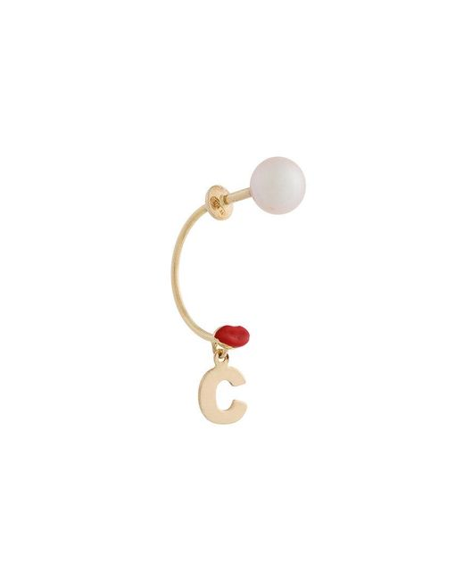 Delfina Delettrez | Metallic Lips Piercing Earring | Lyst