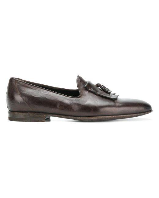 W.gibbs - Brown Tassel Detail Loafers for Men - Lyst