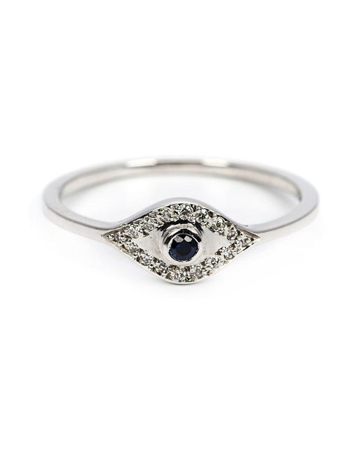 Ileana Makri - White Sapphire And Diamond Eye Ring - Lyst