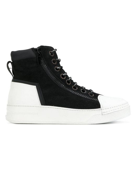 lace-up high-top sneakers - Black Bruno Bordese 6JOgH