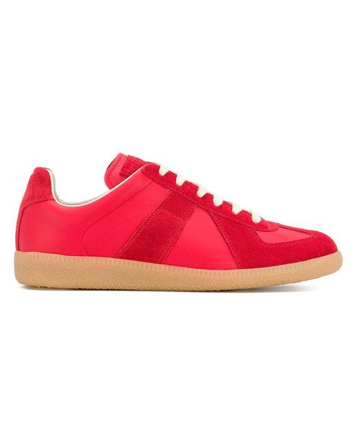 Maison Margiela - Red Replica Sneakers - Lyst
