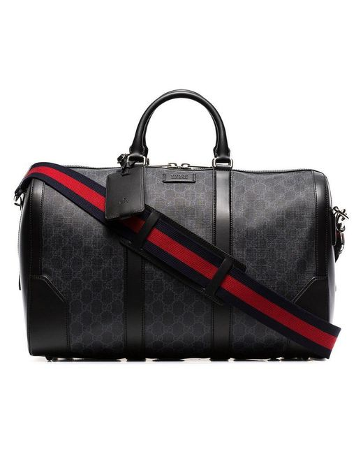 Gucci - Black Soft GG Supreme Carry-on Duffle for Men - Lyst