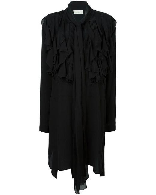 Faith Connexion - Black Ruffled Dress - Lyst