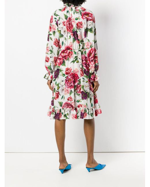 printed long sleeve shirt dress - White Dolce & Gabbana Limited Edition Online Clearance Manchester ixQo1V