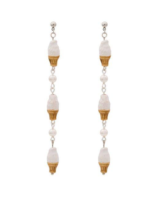Venessa Arizaga - Natural Vanilla Ice Cream Earrings - Lyst