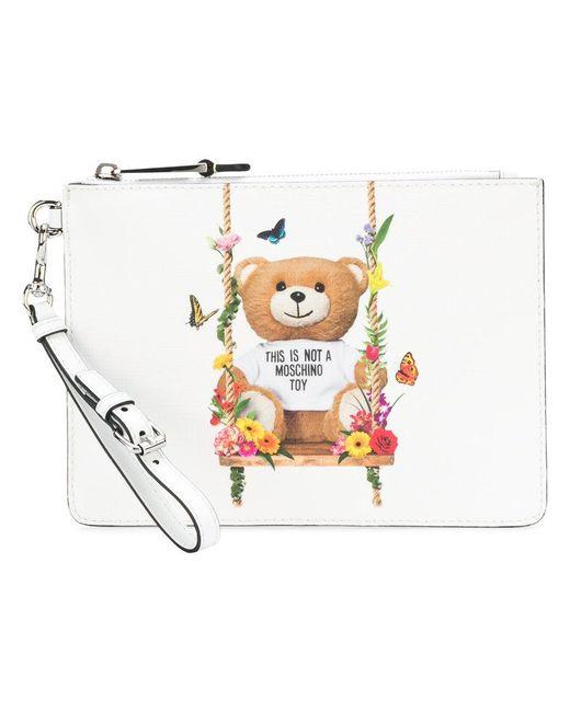 Moschino - White Toy Bear Clutch - Lyst