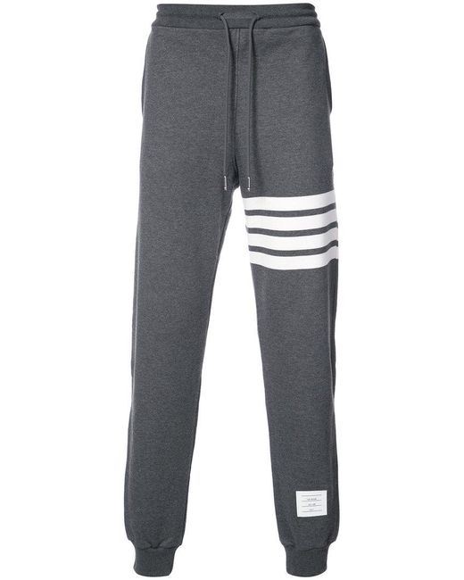 Thom Browne | Gray Sweatpant With Engineered 4-bar Stripe for Men | Lyst